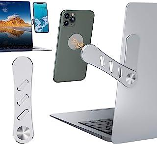 Adjustable Laptop Side Mount Clip Laptop Phone Holder on Monitor Magnetic Laptop Stand Computer Monitor Expansion Bracket ...