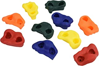 "Kids Large Rock Climbing Holds (10 Pack) - with Mounting Hardware for up to 1"" Installation"