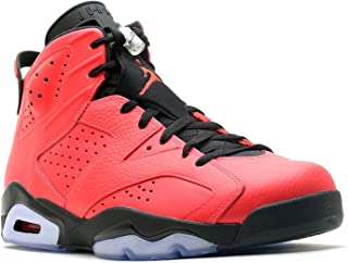Nike Mens Air Jordan 6 Retro Toro Infrared 23-Black Leather Basketball Shoes Size 9.5