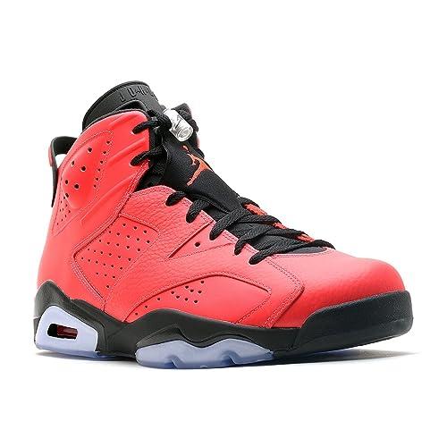 low priced b7d69 6e036 Nike Mens Air Jordan 6 Retro Toro Infrared 23-Black Leather Basketball  Shoes Size 9.5