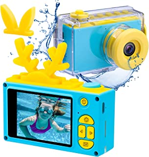 Kids Digital Cameras for Boys Girls HD 1080P Video Camera for Kids Children Selfie Camera Kids Toy Cameras Mini Child Camcorder for Age 6+ Boys/Girls Blue(Memory Card Not Included)