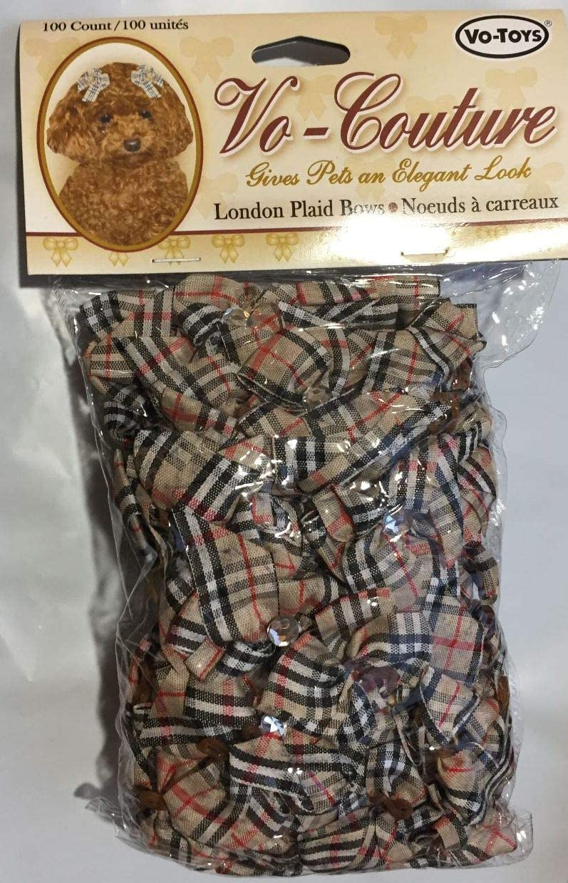 Votoys Grooming Bows London Plaid Count Max 74% OFF discount 100