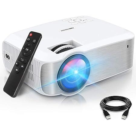 "TOPVISION Proyector Cine en Casa de 6500 Lúmenes, 1080P Nativo Mini Proyector Portátil, Proyector LCD 1080P Full HD de 120000 Horas con Pantalla Máx de 300"", Compatible con HDMI/VGA/USB/AV/SD"