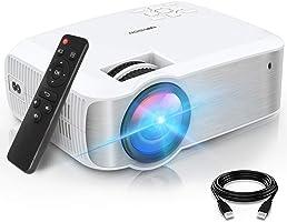 TOPVISION Mini Beamer, Native 1080P Home Cinema Beamer Ondersteunt 1080P Full HD, 7000 Lumen Video Beamer met 300''...
