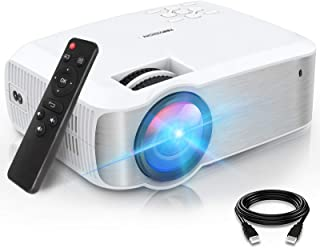 TOPVISION Mini Beamer, Native 1080P Home Cinema Beamer Ondersteunt 1080P Full HD, 6500 Lumen Video Beamer met 300'' Displa...