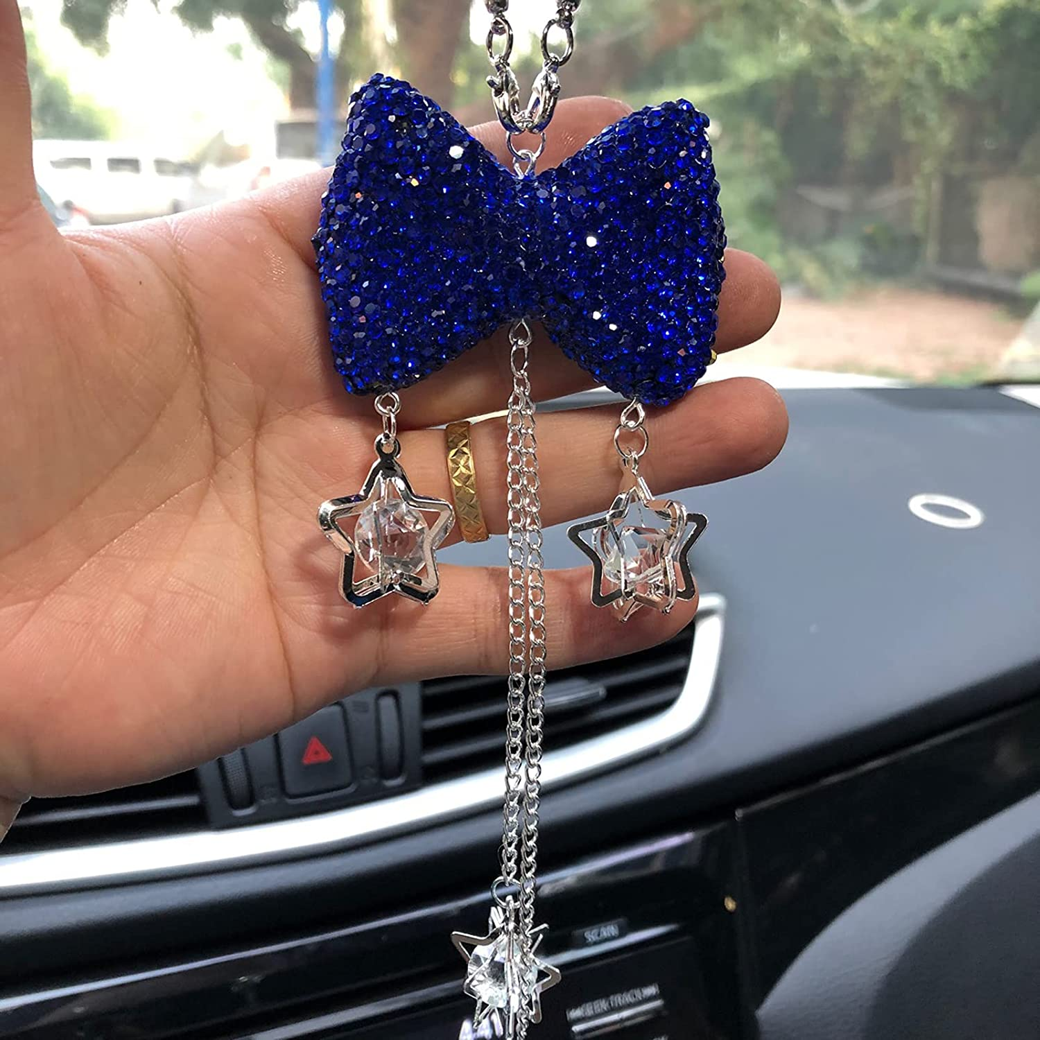 Cute Car In a popularity Accessories Sales results No. 1 for Women Blue Bling Decor Interior