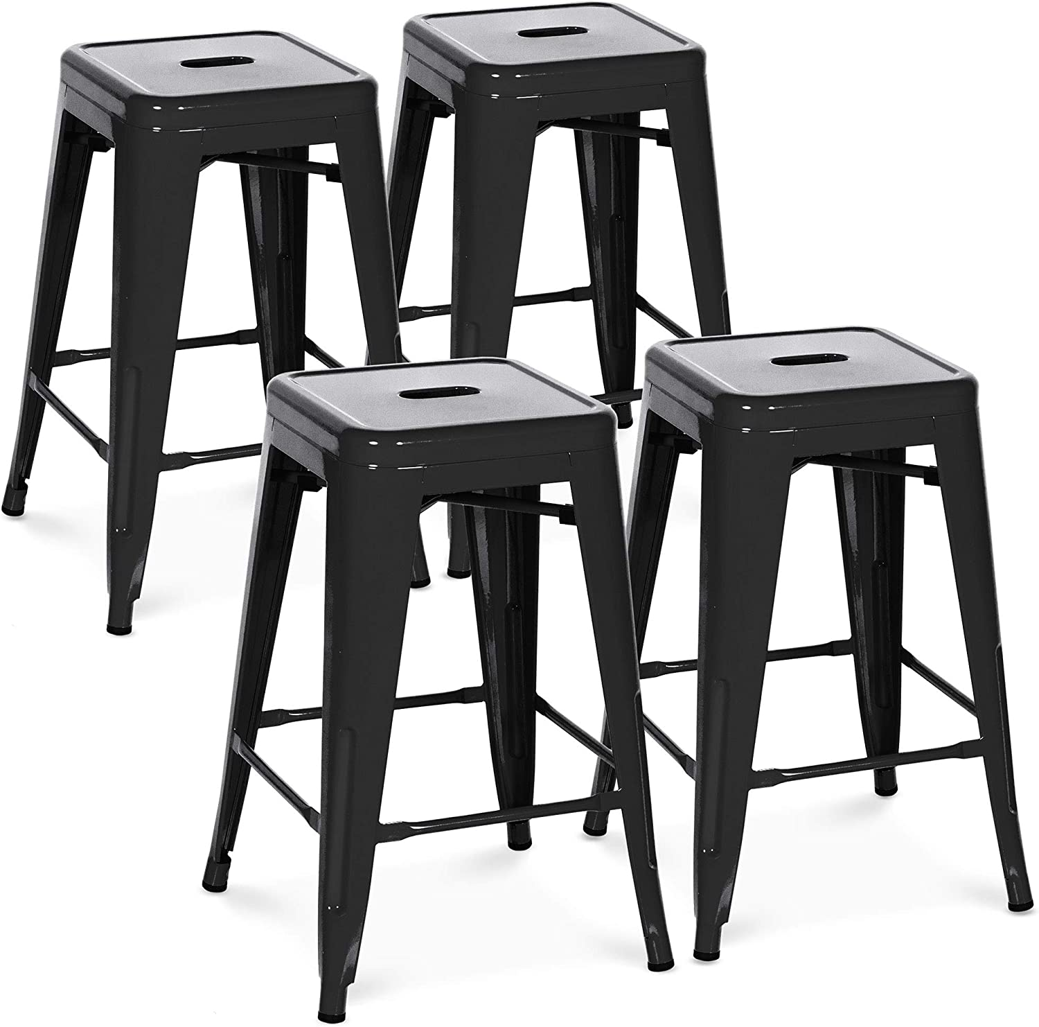 Best Choice Products 24in Classic Indoor Coun Cheap Outdoor Stackable Backless
