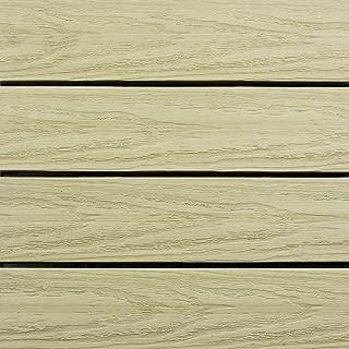 NewTechWood US-QD-ZX-SD Ultrashield Naturale Outdoor Composite Quick Deck Tile (10 Case), 1' x 1', Sahara Sand