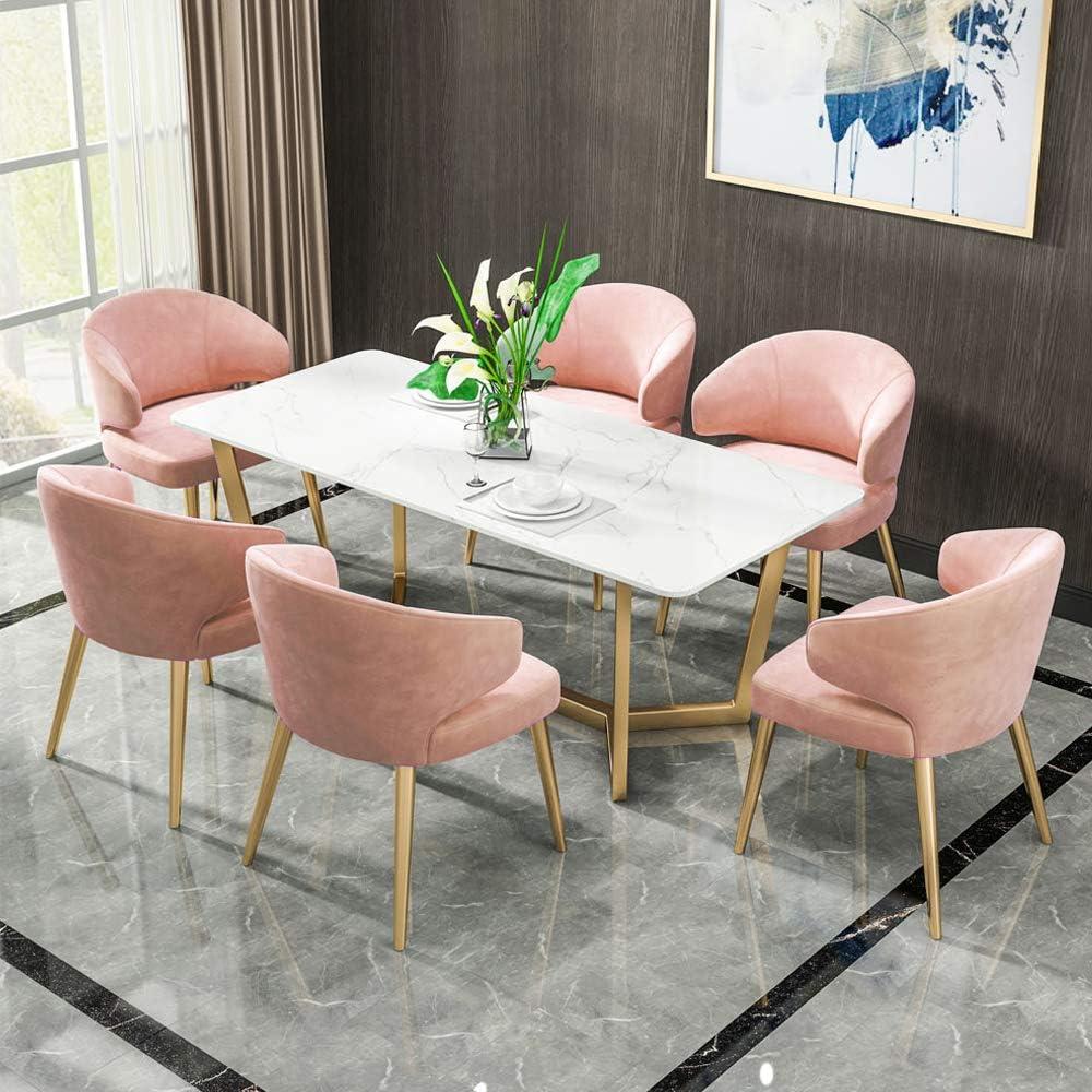 KST Chaise de Salle à Manger en Tissu, Chaise multifonctionnelle avec Pieds en métal, adaptée à la Cuisine, la Salle à Manger, Le Salon, l'hôtel, Le Bar A