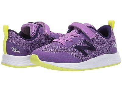 New Balance Kids Fresh Foam Arishi v3 Bungee (Infant/Toddler) (Neo Violet/Black Plum) Girls Shoes
