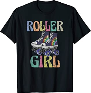 Retro Roller Girl T Shirt Vintage Skating 70s 80s Skate Gift