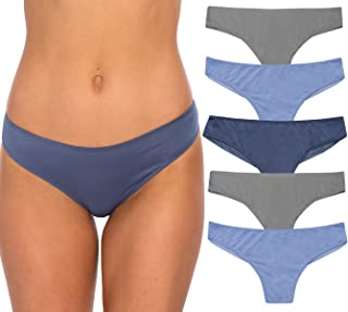 Women's Mesh Back Thong Panties (6 Pack)