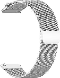 ガーミン GARMIN ForeAthlete 245, ForeAthlete 245 Music, Approach S40, vivoactive3, Samsung Galaxy Watch Active 対応バンド 交換バンド ステン...