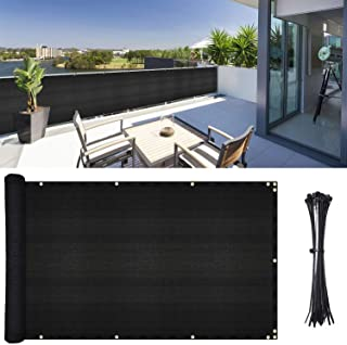 DearHouse Balcony Privacy Screen Cover, 3.5ft x17ft Fence Windscreen for Porch Deck, Outdoor, Backyard, Patio, Balcony to ...