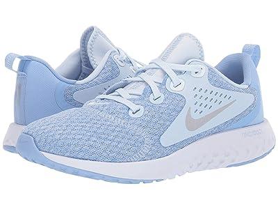 Nike Kids Legend React Running (Big Kid) (Half Blue/Metallic Silver/Aluminum/White) Girls Shoes
