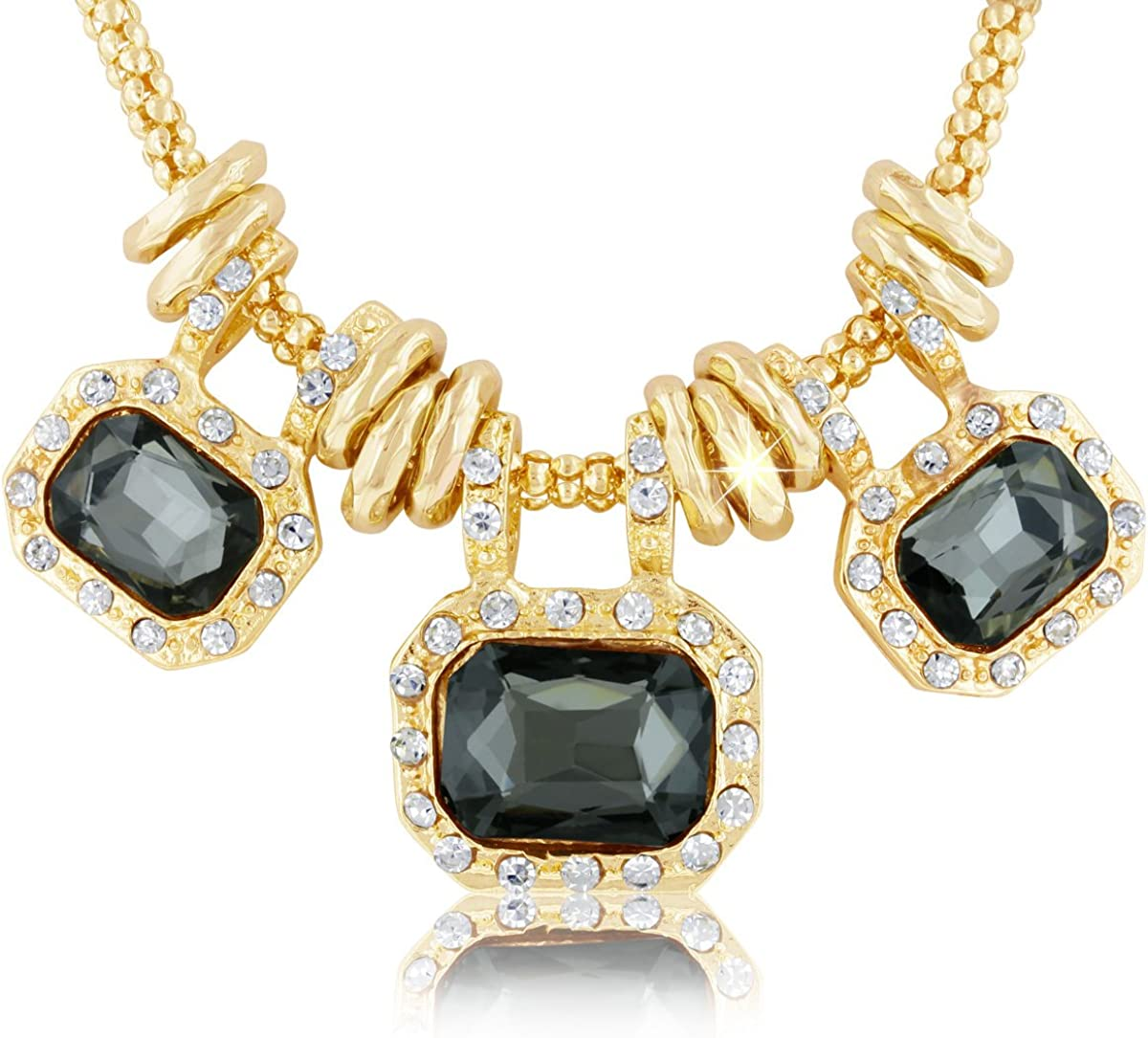 Sparkle Bargains Crystal Statement Women's Fashion Necklace