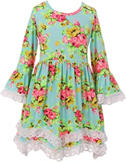 Little Girls Lovely Floral Birthday Party School Holiday Flower Girl Dress 2T-8