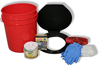 Ready America 71640 Lockdown Toilet Bucket Kit, 1-4 Person