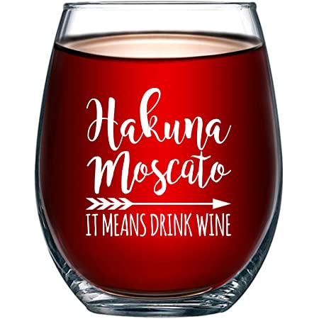 Rose All Day stemless wine glass Funny wine saying Hakuna Moscato melot prosecco pinot