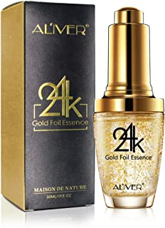 Moisturizer Serum for Face and Eye Area, 24K Gold Essence Anti Aging Wrinkle Moisturizing Firming Face Cream Treatment for Women Skin Care (Aliver)