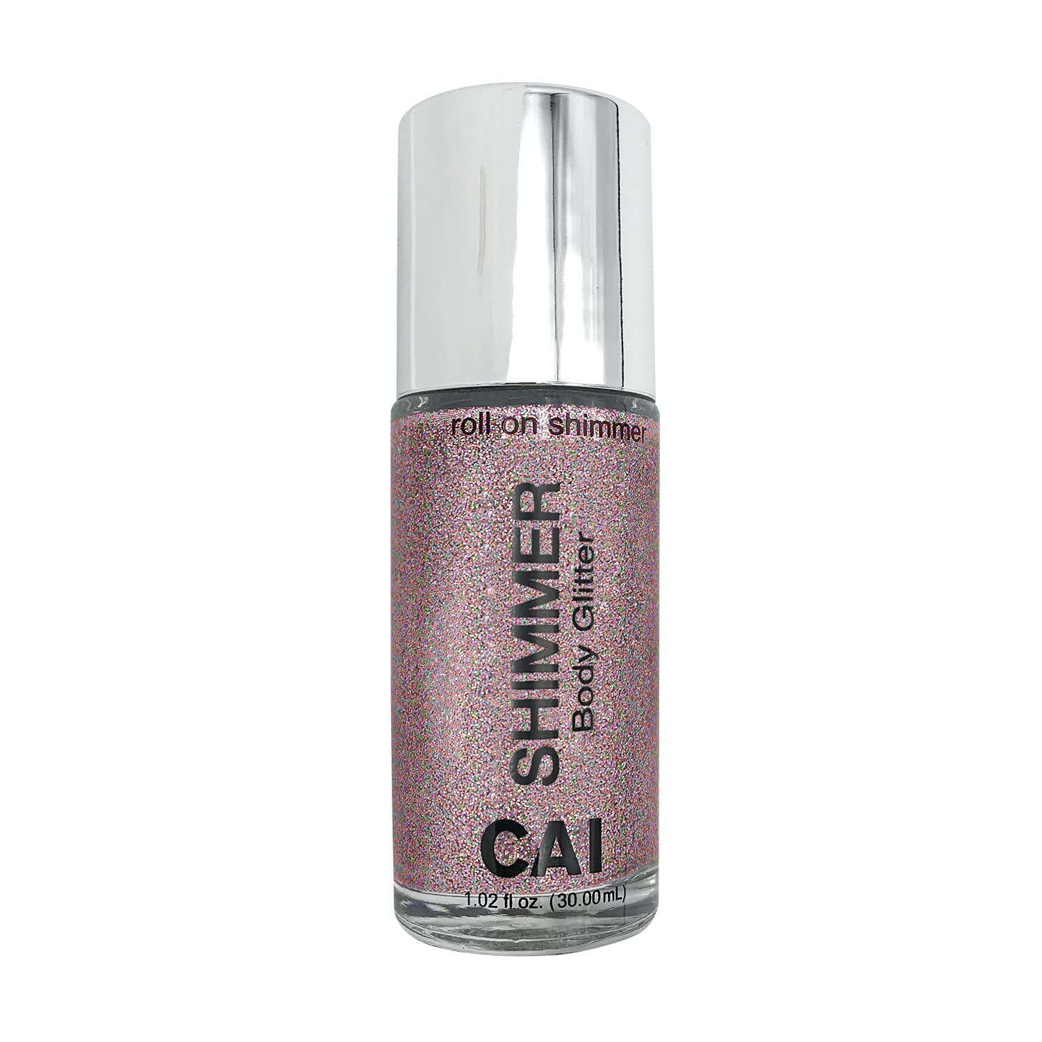 CAI Beauty NYC Rose Gold Pink Glitter | Easy to Apply, Easy to Remove | Roll On Shimmer for Body, Face and Hair | Holographic Cosmetic Grade Glamour : Beauty & Personal Care