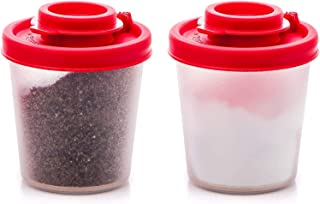 Salt and Pepper Shakers Moisture Proof Set of 2 Medium Salt Shaker to go Camping Picnic..