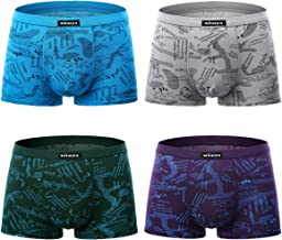 wirarpa Men's Breathable Modal Microfiber Trunks Underwear Covered Band Multipack