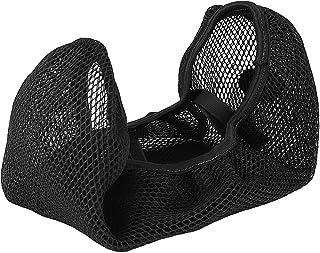 Qiilu 3D Motorrad Roller Atmungsaktive Net Sitzbezug Kissen Schutz Schwarz(XL)