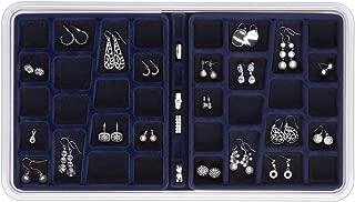 Neatnix STAX Jewelry Organizer Tray, 36 Compartments, Midnight Blue