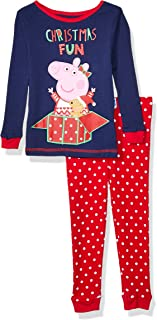 Peppa Pig Girls' Toddler Holiday 2 Piece Cotton Tight Fit Set