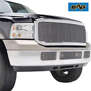 EAG Chrome Billet Grille+Shell Compatible with 05-07 Ford Super Duty F-250/F-350