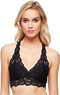 Jenny Jen Lace Bralette, Mia Sexy Hourglass Racerback Bralettes for Women, Size S-XL for A to D Cups