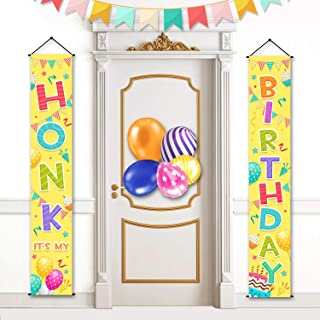 Honk Its My Birthday Porch Sign Birthday Yard Signs Decorations Colorful Party Supplies Door Banner for Kids Party Indoor ...
