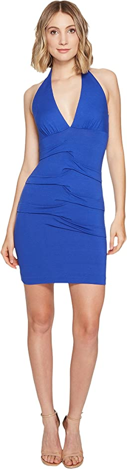 Tidal Pleat Halter Dress
