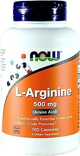 Now Foods Arginine 500mg, 100 Capsules (Pack of 2)