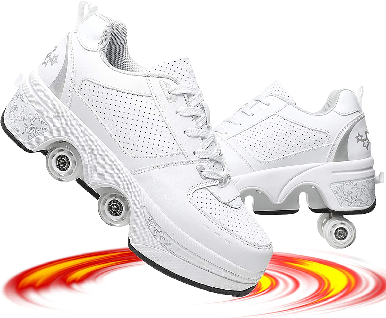 NNZZY Popular products Roller Skates for Women ! Super beauty product restock quality top! Outdoor Parkour with Wheels Shoes