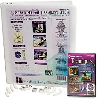 Creative Feet Educational Special Sewing Includes All Creative Feet Sewing Machine Foot and Instructional Tools