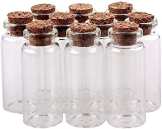 Swity Home 60 Pack Glass 2 inch 10 ml Decorative Bottles for Arts & Crafts, Projects, Set of 60
