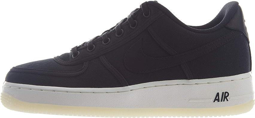Nike Air Force 1 Low Retro QS Canvas Big Kids' Shoes Black/White Summit ah1067-004