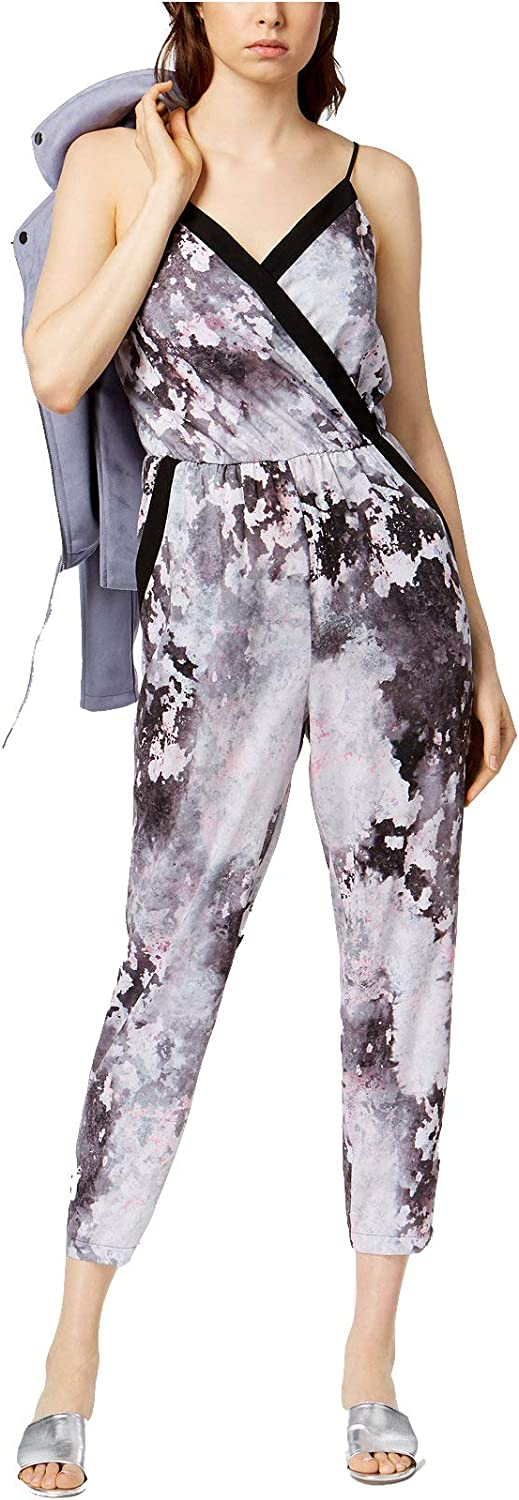 Bar III Women's Printed Cropped Jumpsuit