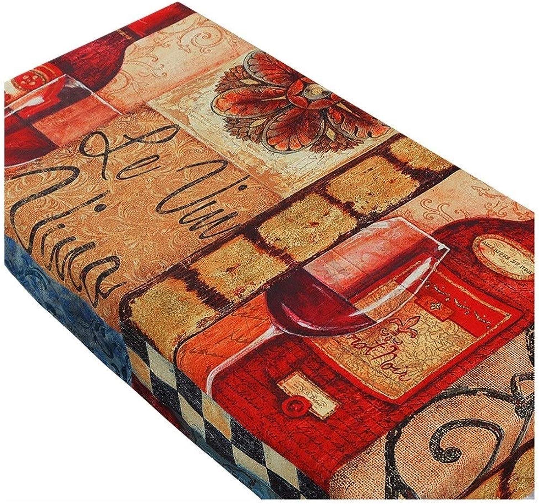 muchas concesiones Manteles Hogar Acolchado Impermeable Lino De Algodón Rectangular Rectangular Rectangular Polvo De Mesa De Café Regalo (Color   marrón, Talla   130  190cm)  más vendido