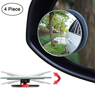 "Ampper Upgrade 2"" Round Blind Spot Mirrors, 360 Degree Adjustabe HD Glass Convex.."
