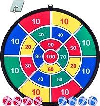Juego de dardos para niños, juego de 8 bolas adhesivas y diana de 13.8in, juego de dardos seguro, regalo para niños, caja colorida
