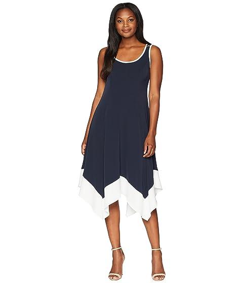 New Trim Sleeveless Handkerchief York Tipped Hem Dress Long Jones Tvwd0qPT