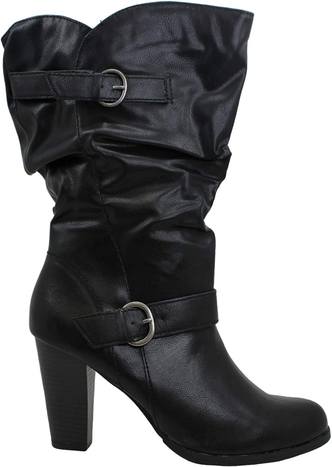 Style Co Women's Sachi Block-Heel Black Mid-Shaft lowest price 1 Boots Size Max 70% OFF