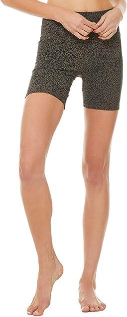 High-Waist Vapor Leopard Shorts