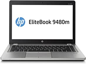 HP K2X60USABA EliteBook Folio 9480m Notebook PC, 14