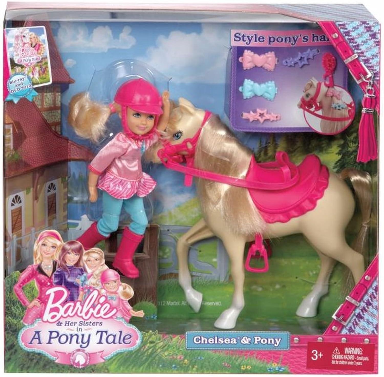 Todos los productos obtienen hasta un 34% de descuento. Mattel Mattel Mattel X8412 - Barbie y Sus Hermanas, muñeca Chelsea y Poni  ¡envío gratis!