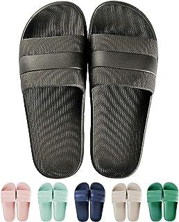 GURGER Claquettes Femme Homme Ete Chaussures de Piscine Douche Pantoufles Maison Chaussons Slide