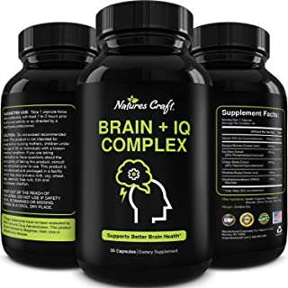 Nootropic Memory Supplement for Brain Support - Memory Pills for Brain Boost and Natural Energy Booster - Vitamin B 12 Bac...